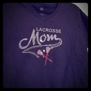 New Lacrosse Mom bling T-shirt